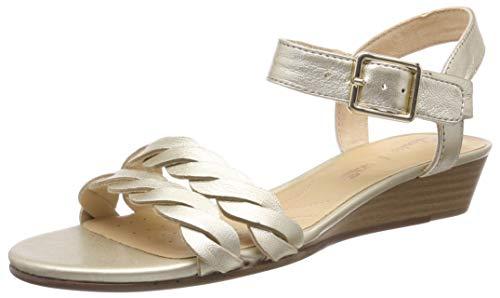 Clarks Mena Blossom, Zapatos Tacón Mujer, Plateado