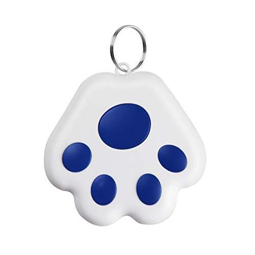 GPS Tracker for Kids & pet cat Dog Position,Mini Antilost Waterproof Bluetooth Locator Accessories (Blue)