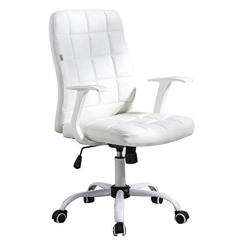 Life Equipment Cómoda silla giratoria ergonómica para escritorio de oficina, altura ajustable, respaldo alto, cuero PU, silla de escritorio para juegos para dormitorio de estudiantes, sala de reuni