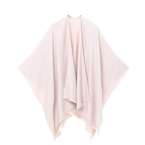MELIFLUOS DESIGNED IN SPAIN Women's Shawl Wrap Poncho Ruana Cape Cardigan Sweater Open Front for Spring Fall (PC03-15)