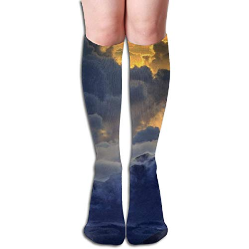 Ccsoixu Maui Mountain Volcano Island 50 Full Comfort Knee High Socks Cotton Long Knee High Socks