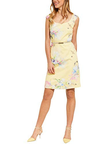 comma Damen 81.904.82.7963 Kleid, Mehrfarbig (13c3 Inkjet Flower 13c3), (Herstellergröße: 40)