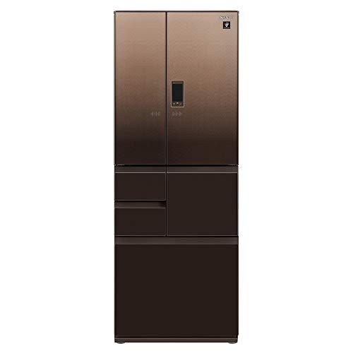 シャープ SHARP 冷蔵庫 SJ-AF50G-T プラズマクラスター(幅68.5cm) 502L ガラスドア/電動フレンチドア(観音...