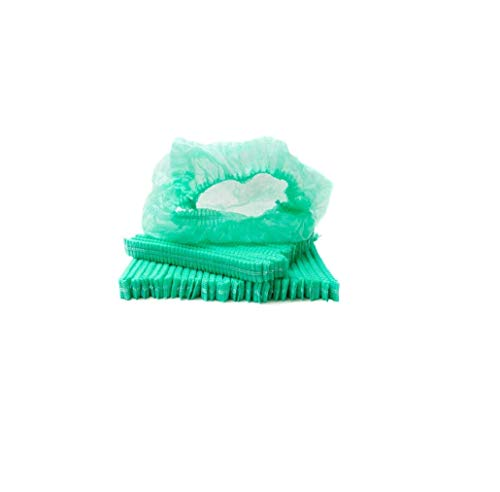 100 Pieces Disposable Caps Hair Net Cap Elastic Free Caps for Food Service Sleeping Head Cover Factory Warehouse Worker Beauty Green