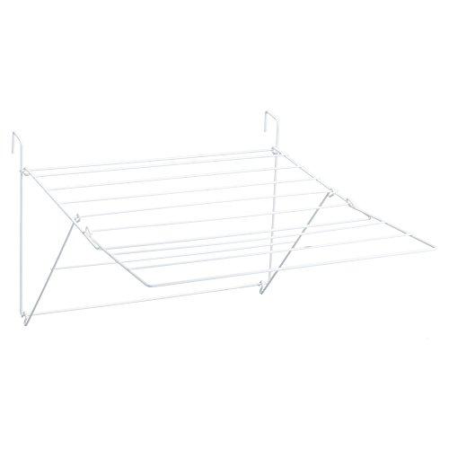 Sauvic Blanco TENDEDERO BALCÓN Extensible, Acero con Recubrimiento plástico anticorrosivo de Color, 61x87x32 cm