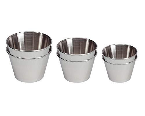 EUROXANTY Molde para Flan 6 Unidades | Flanera Individual | Molde de flan Liso | Molde Antiadherente | Molde gelatinas | Molde para pastelitos | Molde Redondo | Pack 7, 8 Y 9 cm