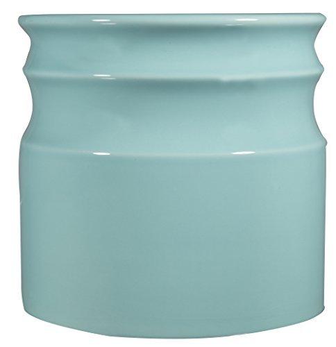 Home Essentials & Beyond 66376 7.5 D in. Turino Rings Utensil Crock - Aqua