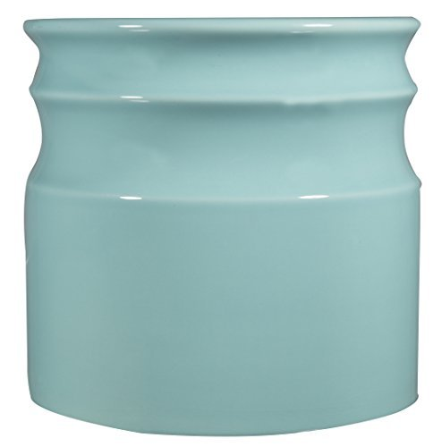 Home Essentials Beyond 66376 75 D in Turino Rings Utensil Crock - Aqua