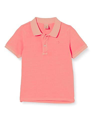 Scotch & Soda Shrunk Jungen Garment-Dye Poloshirt, Rot (Neon Coral 0557), 152 (Herstellergröße: 12)