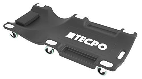TECPO Werkstattrollbrett 1030x480x130 mm Tragkraft bis 120kg KFZ Werkstatt Rollliege SCHWARZ Montagerollbrett Montageliege vormontiert