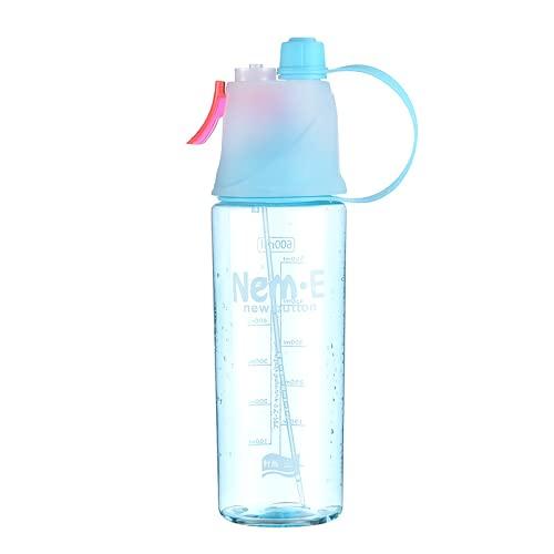 YIXINYOUPIN Botella De Agua Nebulizada, Botella Deportiva De Niebla En Aerosol Para Hidratación Deportiva Al Aire Libre Y Botella De Agua De Enfriamiento Para Gimnasio azul