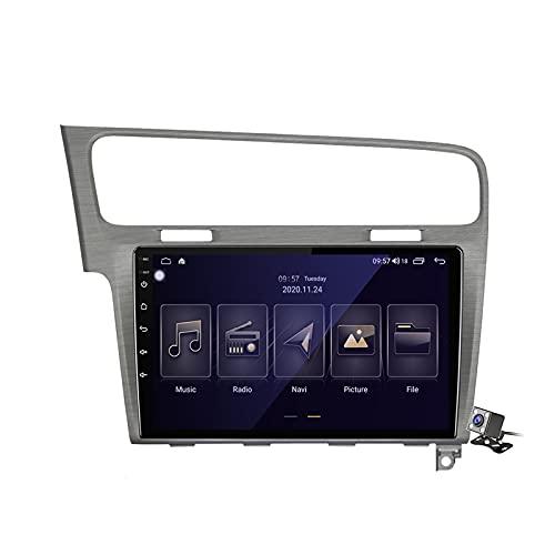 Android 10 2 DIN Radio De Coche Navegacion GPS para Volkswagen Golf 7 2013-2017 Soporte 5G WiFi DSP/FM Am RDS Radio de Coche Estéreo Carplay Android Auto/Bluetooth SWC,Plata,M100