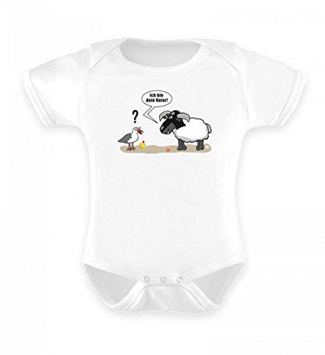 Shirtee Ich Bin Dein Vater! | Strandedition | Möwe | Schaf | Norden | norddeutsch | T u.v.m - Baby Body