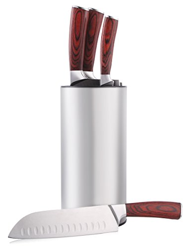 Hiware Stainless Steel Universal Knife Block