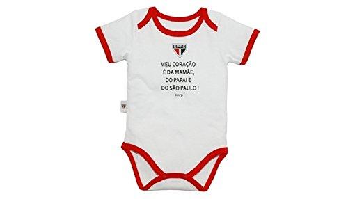 Body MeuCoração É São Paulo Unissex, Rêve D'or Sport , Branco/Vermelho - M