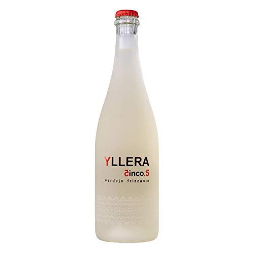 Yllera | Vino Blanco Yllera 5.5 Verdejo Frizzante | Verdejo | 75 cl | Mosto Parcialmente Fermentado | Dulce y Cítrico | Fresco y Refrescante | con Finas Burbujas | Vino Español