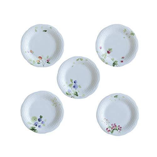 Fengshop Plato de cena elegante juego de platos de desayuno, plato de postre tallado de porcelana, plato de servir de pasta de carne, platos de postre