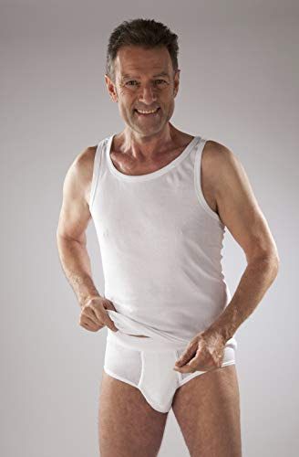 Onderhemd heren wit 4 stuks maatXXXL