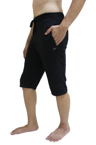 YogaAddict Men Yoga Shorts Pants, Ideal for Any Yoga Style and Pilates, Premium Quality, Black -...