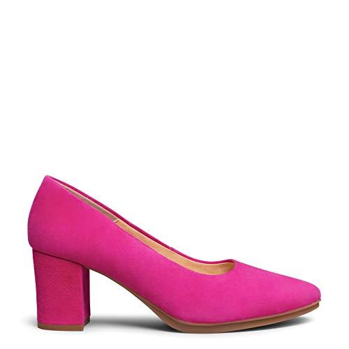 Urban S Zapato de antede tacón Medio Fucsia