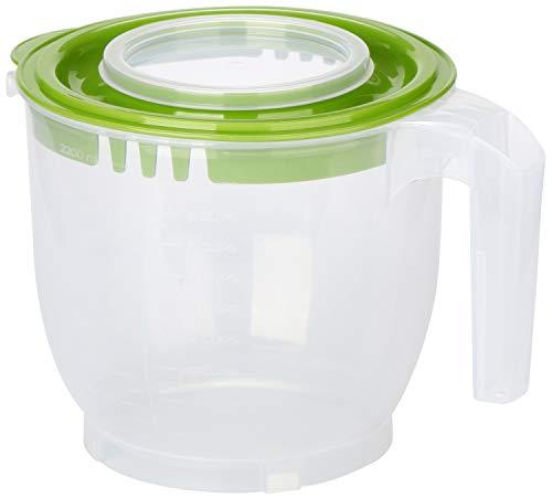 COM-FOUR® Tasse à mesurer avec couvercle de protection supplémentaire contre les éclaboussures [le choix des couleurs varie]