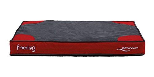 Freedog FD1000380 - Colchón viescoelastico, para Perro, Color Rojo