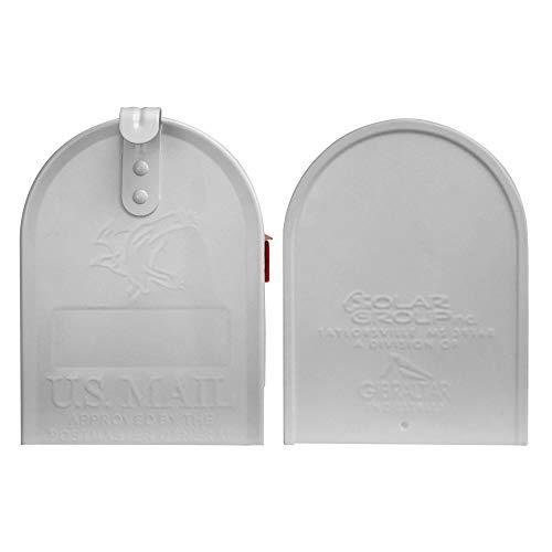 BANJADO US Mailbox | Amerikanischer Briefkasten 51x22x17cm | Letterbox Stahl weiß | mit Motiv Moin Moin, Briefkasten:ohne Standfuß - 6