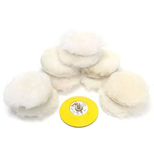 MYAMIA 11pcs 3 inch Wolle Polieren Pad und Buffing Pad Set für Auto-Polierer