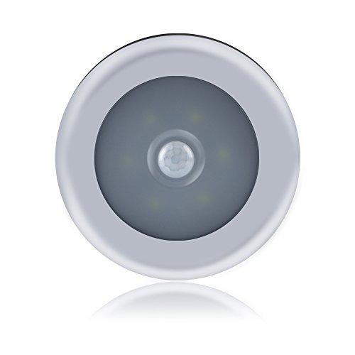 Ebilun Luz LED con sensor de movimiento para armario, armario, dormitorio, lámpara de inducción, sensor de movimiento activado con 3 pilas AAA (no incluidas), color blanco