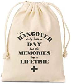 Set of 10 Bags cross hangovers only last a day memories last forever hangover kits bags hangover product image