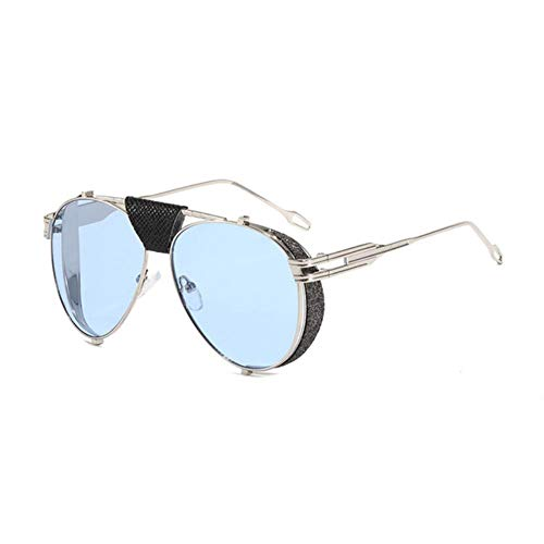 Gafas de sol de las mujeres Retro Plegable Steampunk Gafas de sol Diseñador de Cuero de la Pu Remache Punk Gafas de Sol Uv400