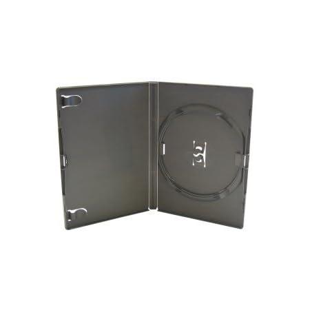 Medios De Comunicación Comerciales - Genuino Amaray Individual DVD Negro Carcasas 14mm Lomo - Contiene 1 disco - Paquete de 10