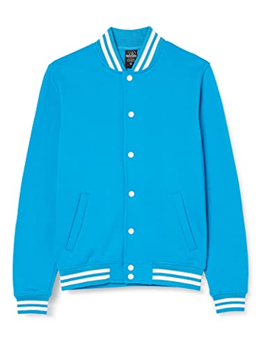 Urban Classics College Sweatjacket Felpa, Turchese (Turquoise 00217), Medium Uomo