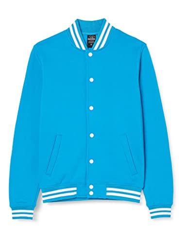 Urban Classics College Sweatjacket Felpa, Turchese (Turquoise 00217), X-Large Uomo