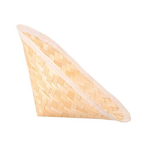 VICASKY Chinesische Bambus Hüte Orientalische Asiatische Kuli Hut Japanischen Stroh Hut Vietnamesisch Landwirt Hut DIY Kostüm Zubehör für Kinder Kinder Geschenke 23. 5X14. 5Cm