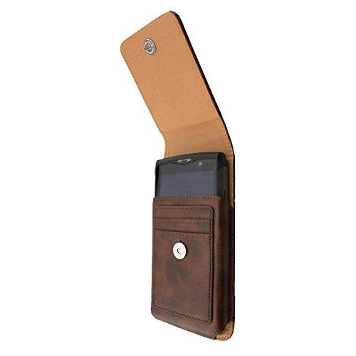 caseroxx Handy Tasche Outdoor Tasche für Cyrus CS45 XA, mit drehbarem Gürtelclip in braun