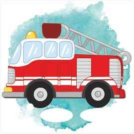 Farbklecks-Collection - Schutzfolie passend für Toniebox – Feuerwehr
