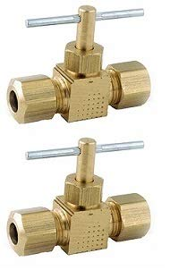 Anderson Metals 759106-04 1/4-Inch by 1/4-Inch Straight Needle Valve, Brass (?w? ???k) by Anderson Metals