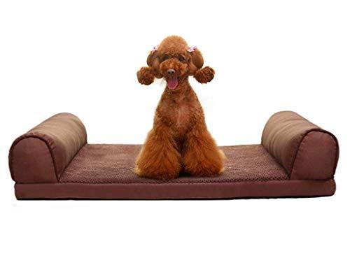 Braunes Hundebett, Superweiches Haustier-Schlafsofa für Katzen, rutschfeste Liege für Haustiere, Gemütliches Haustierbett im Schlafzimmer, Wohnzimmer und Flur, Leicht zu reinigen Leicht zu r