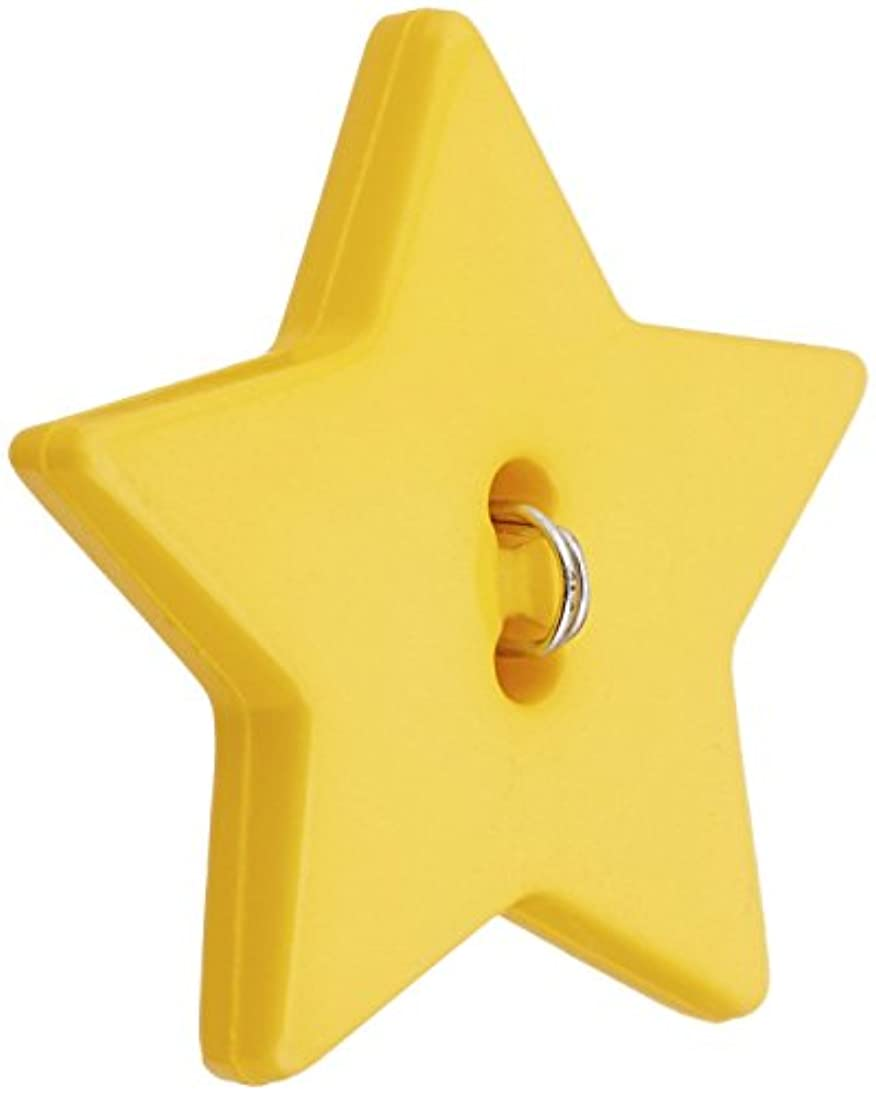 Blumenthal Lansing Slimline Buttons Series Funtastics -Yellow Star 2-Hole 1-1/8