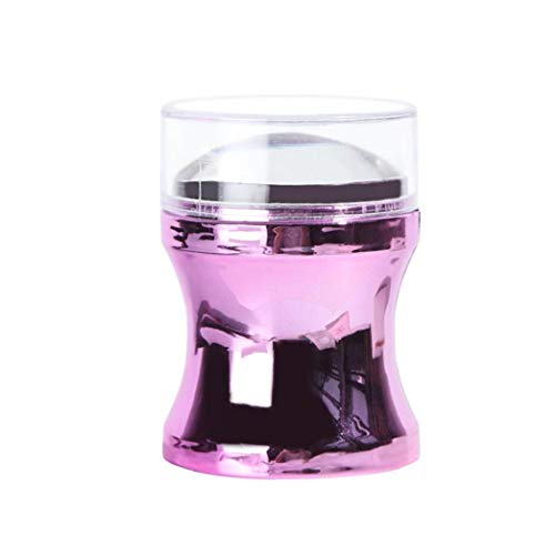 1pc Nail Art Stamper Metallgriff Stamper mit Silikon-Köpfe Diy Maniküre Drucken Werkzeug-Nagel-Kunst-Zusätze für Personal oder Salon Use (lila)