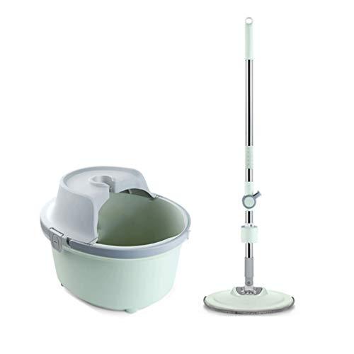 Fregona giratoria Fregona de la vuelta de la mano Lavado libre del hogar automático Mopping una toalla húmeda y de Doble Uso en seco fregona giratoria universal Cubo de Agua limpiando suministros