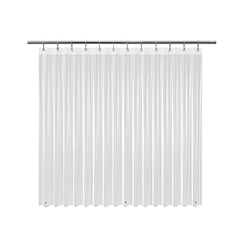 EHZNZIE Shower Curtain Liner Light Weight PEVA 4G , Waterproof, No Chemical Smell with 12 Rust Proof Metal Grommets for Bathroom Shower-72x72 Inches (Clear)