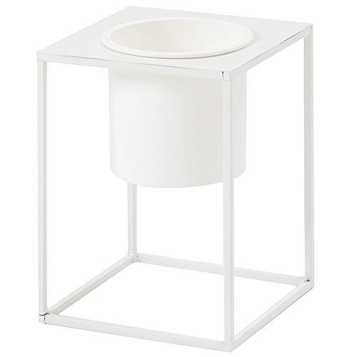ルームアンドホーム 鉢カバー ホワイト 20×15×15cm スタンド フラワーベース 花器 S モノ 植木鉢 F型