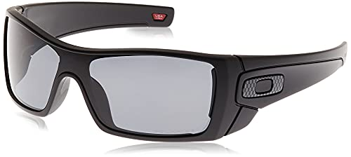 Big Sale Oakley Men's Batwolf Polarized Rectangular Sunglasses,Polished Black & Gold Ghost Text Frame/Tungsten Iridium Lens,one size