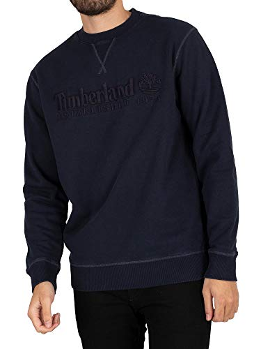Timberland Uomo Felpa Fondata nel 1973, Blu, XL