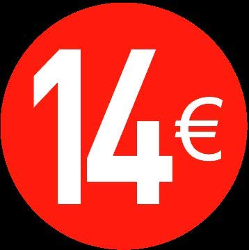 Price stickers euro - 13 mm, 14 ?, 120