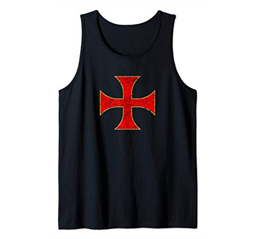 Cruz Caballeros Templarios Regalo Cristiano Hombre Mujer Camiseta sin Mangas