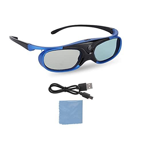 Plyisty 3D-Brille, Universal Active Shutter 3D-Brille DLP Link Wiederaufladbare 3D-Projektor-3D-Brille für die meisten 3D-DLP-Projektoren - Sony/BenQ/Epson/Panasonic/Acer usw.