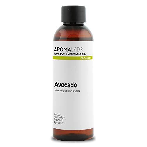 BIO - Olio di Avocado, garantito 100% puro, naturale e spremuto a freddo - Biologico certificato da Ecocert - Aroma Labs